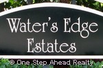 Waters Edge Estates community sign